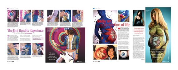 Illusion A4 glossy magazine design | Body and Face Painting ...