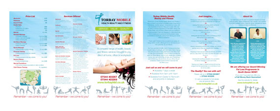 Torbay Mobile Health Beauty And Fitness Tri-Fold A4 Brochure ...